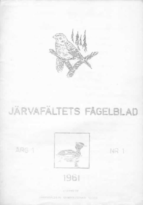 Järvafältets Fågelblad 1961-1