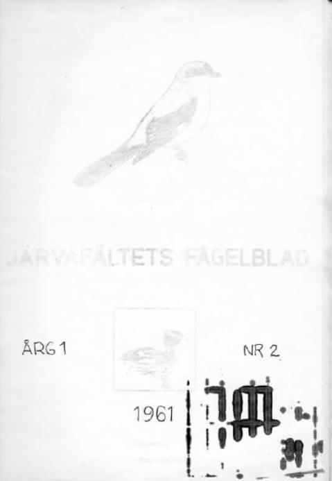 Järvafältets Fågelblad 1961-2